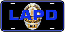 LAPD Police Novelty Car Aluminum Tag License Plate