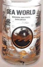 Sea World Mission Bay Park San Diego CA Heavy Mug Glass with Handle Vintage