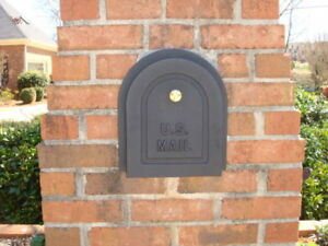 "6"" Brick Mailbox Door - Cast Aluminum Replacement Doors by Better Box Mailboxes"
