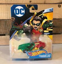 HOT WHEELS 2017 DC COMICS ROBIN CHARACTER CARS 1:64 RARE HTF