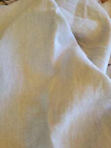 "Restoration Hardware Shower Curtain Natural Linen 72"" EUC"