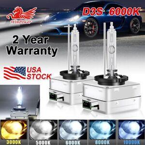 2x D3S 6000K HID Xenon Headlight Bulb LED for 66340 9285304244  42403 42302 USA