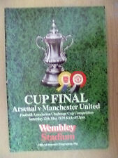 1979 FA CUP FINAL- ARSENAL v MANCHESTER UNITED, 12 May (Org*, VG)