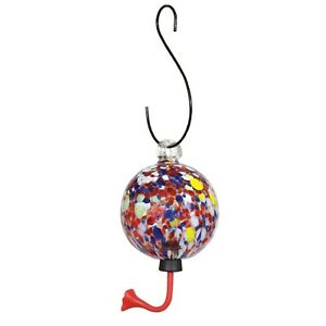Multi-Color Glass Sphere Hummingbird Feeder Gardman Humming birds butterflies