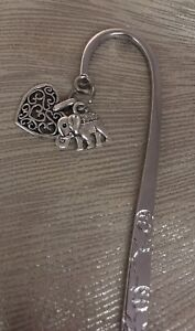 Elephant and Heart Metal Bookmark