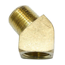 Solid Brass Street Elbow Fitting 1/2 Inch NPT pipe thread 45 Degree - FST88EA