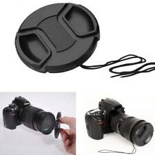 2Pcs 52mm Center Pinch Snap-on Front Camera Lens Cap Protect Cover Accessories