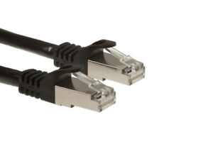 CAT6A Shielded (STP) Ethernet Patch Cables, Easyboot, Stranded, 26AWG, Black,