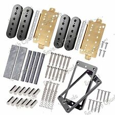 Double coil Pickup Humbucker Kits Producing Accessories/Black Bobbins/Brass Base