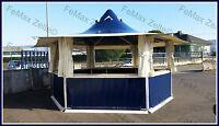 Marktstand Getränkestand Grillstand 16,3m² / 6x Dachentlüftung