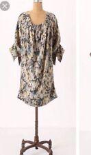 Anthropologie Rutzou 100% Silk Pullover Critter Carnival Tunic Dress 6 $248 Bugs