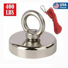 400 Lbs Pull Force Strong Neodymium Rope Carabiner Hunting Fishing Magnet Kit