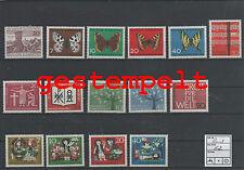 Germany Federal Frg Vintage Yearset Yearset 1962 Postmarked Complete Complete