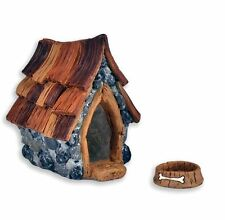 Miniature Fairy Garden Shingletown Dog House & Bowl Set - Buy Three Save $5.00
