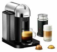 Breville Nespresso Vertuo and Aeroccino3 Frother Espresso Machine Chrome Finish