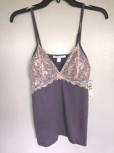 Flora Delia Women's Cami Lavender Pink Pajama Top Only, Size Medium