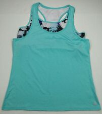 FREE COUNTRY Free To B Womens L Athletic Racerback blouse tank Top Aqua Green