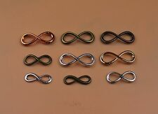 Bulk Lot Silver 8 Infinity Sign Jewelry Making Pendant Charm Bracelet Connector