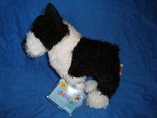 Ganz Webkinz Boston Terrier Black & White Dog Plush Beanbag With sealed Code
