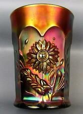 Carnival Glass - Northwood DANDELION Amethyst Tumbler