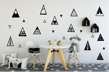 Geometric Mountain Triangle Wall Stickers For Kids Nursery Decor Decal Art Mural