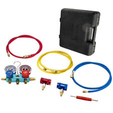R1234yf Hvac Air Conditioning Manifold Gauge Set With72 Color Charging Hoses