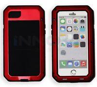 Iphone 7 Case HD Shockproof Tough Metal Anti Shock Proof Hybrid [RED]