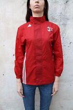 Adidas A C MILAN Football Clube Activewear Red Nylon Jacket Sport 12 Yrs M
