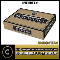 2018-19 UPPER DECK CHRONOLOGY HOCKEY 8 BOX FULL CASE BREAK #H374 - RANDOM TEAMS