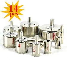 14x Diamant Bohrer Bohrkrone 4-70mm Lochsäge Für Marmor Stein Glas Plastikplanen