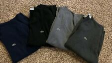 **LOT OF 4 AUTHENTIC** LACOSTE V-NECK BLACK NAVY GREY COTTON SWEATER SIZE 7 XL