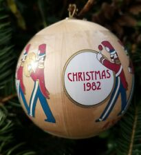 1982 Hallmark Ornament Son Pride Heart Joy Toy Soldiers Marching Band Satin Ball