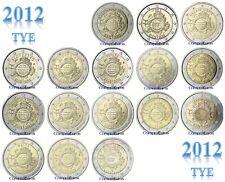 2 Euros Conmemorativos 2012 *TYE* SIN CIRCULAR Todos los Países Disponibles