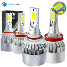 Syneticusa 9005+H11 LED Combo CREE Headlight Kit 3000W Light Bulbs Hi Low Beam