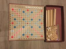 Vintage Scrabble Crossword Board Game S&R Selchow & Righter COMPLETE