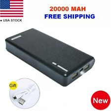 US 20000mAh Dual USB Portable Power Bank External Battery Charger For Cell Phone