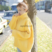 Thick Women Knit Turtleneck Sweater Shirt Jumper Thermal Casual Coat Top Blouse