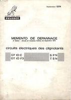 Memento de depannage  PEUGEOT gt10 f3 spn tsn mobylette