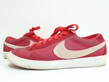 Nike Bruin Low Classic 537332-600 Suede Red Shoes Men's Sneakers Size 8.5 US
