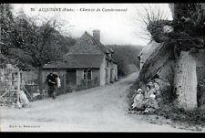 ACQUIGNY (27) ELEVAGE de LAPIN / VILLA animée , Chemin de CAMBREMONT début 1900