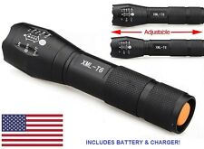 Tactical 10000LM 5 Modes XML T6 LED 18650 Flashlight Zoomable Focus Torch Lamp