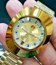 Vintage Rado Diastar Automatic 36 MM Gold Blue & White Diamond Men's Wrist Watch
