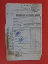 S.A.R.A. SARA Trieste Biglietto trasporto autocorriere autobus