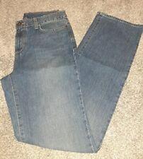 New Eddie Bauer Women's Size 8 Tall Natural Wash Straight Leg Jeans Denim Blue