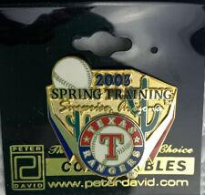 Texas Rangers MLB Spring Training Cactus League Arizona 2003 Pin New