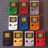 Original Nintendo gameboy DMG01-System-GlassScreenBlack Buttons-Pick Shell Color