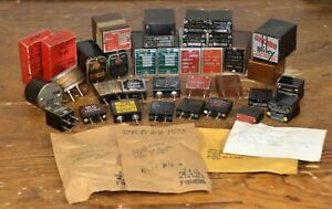 ***HUGE LOT*** Vintage Military Tube Radio Crystals XTALs ~ VARIOUS MFGs & MHz