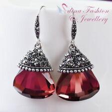Glass Lab-Created/Cultured Drop/Dangle Fashion Earrings