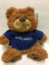 "NWT The Petting Zoo 14"" Bear Plush Paw Pads ms Ryndam Cruise Shirt Souvenir"