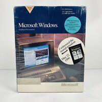 "Microsoft Windows Version 3.0 1990 Factory Sealed Box 5.25"" Floppy Disk DOS Vtg"